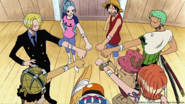 One Piece series fist bump