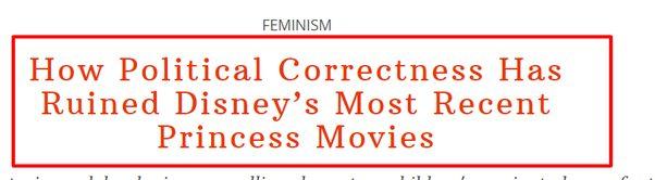 political correctness ruined disney