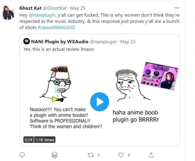 tweets nani plugin music distortion hentai