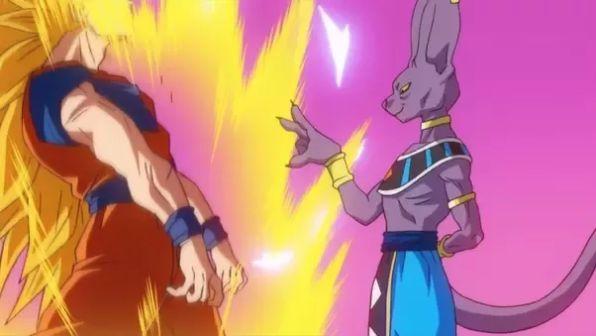 Beerus Stomps SSJ3 Goku Dragon Ball Super