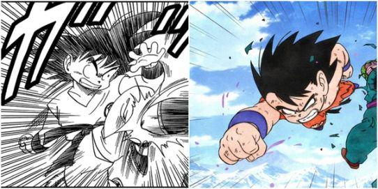 goku kid dragon ball anime manga panel
