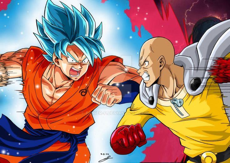 goku saitama clash