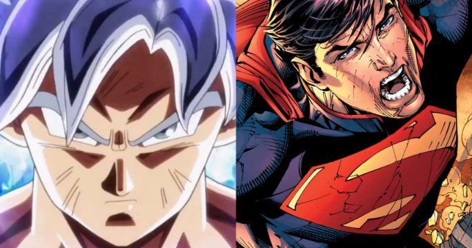 goku vs superman battle anime 1