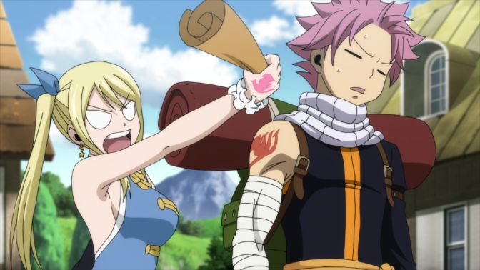 lucy angry at natsu fairy tail 1