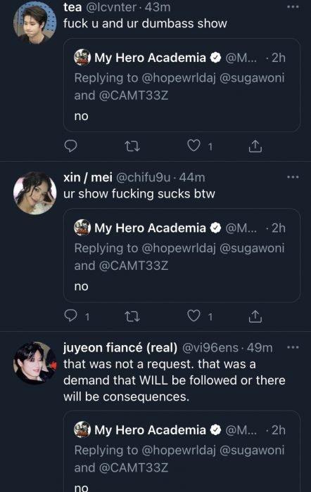 my hero academia haters twitter kpop