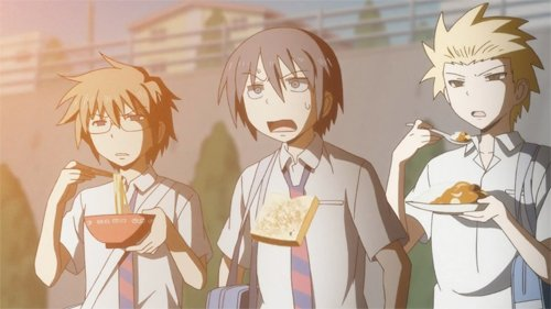 Daily Lives of High School Boys episode 1 eating