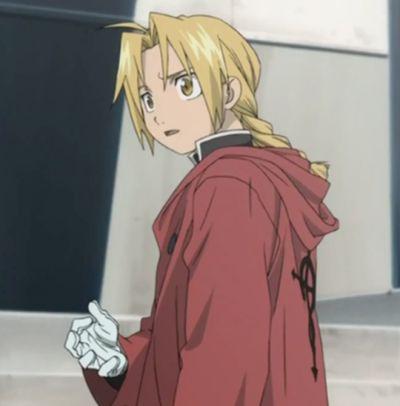 Edward Elric red cloak