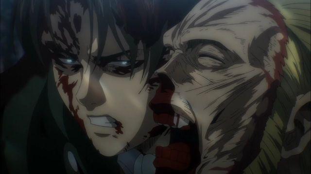 Levi vs Beast Titan Round 3 Attack on Titan season 4