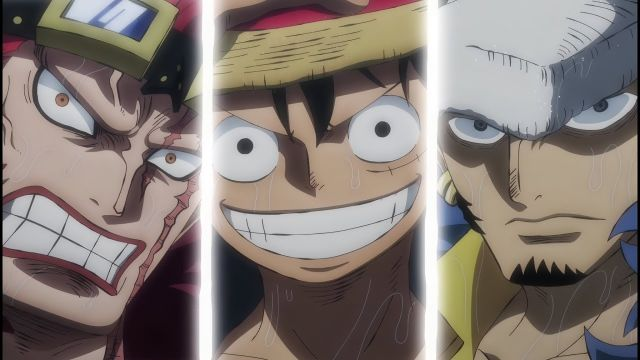 Luffy Kid and Law Vs Beast Pirates One Piece