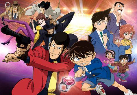 Lupin III vs. Detective Conan anime visuals