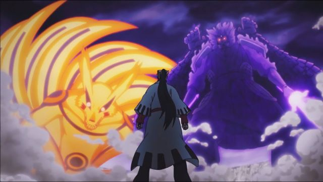 Naruto and Sasuke vs Jigen Boruto Naruto Next Generations