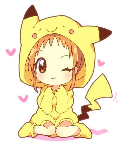 anime chibi pikachu girl 1