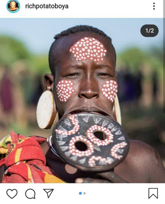 subaru kimura deleted instagram blackface racism african tribes