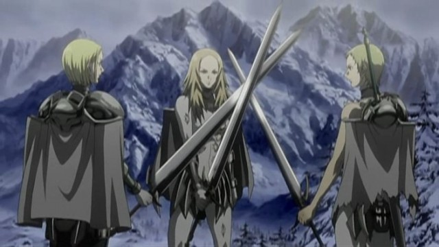 Claymore female characters swords