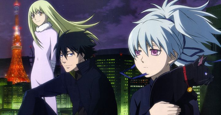 Darker than Black 3 characters rooftop