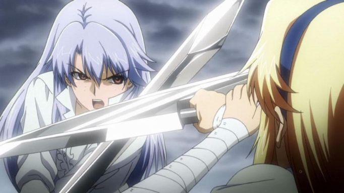 Freezing anime fight girls