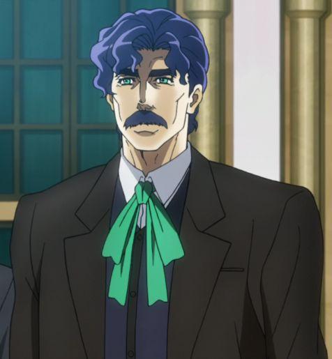 George Joestar blue hair jojo anime