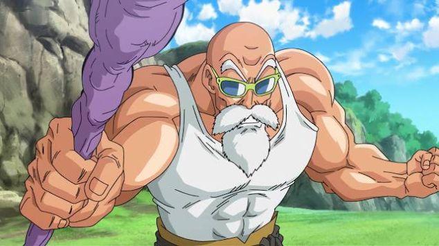 Master Roshi Dragon Ball muscles