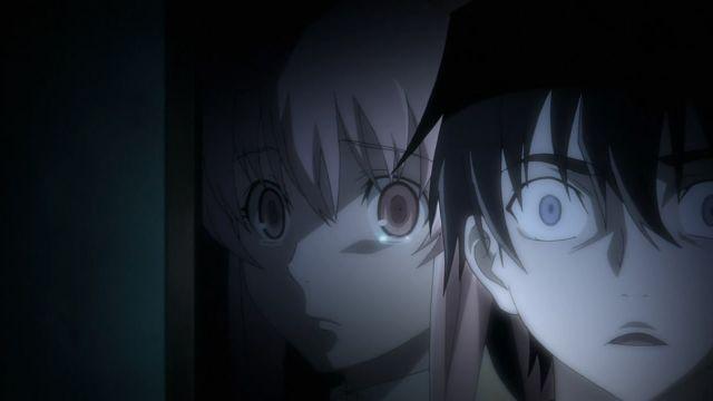 Mirai Nikki yuki amano and yuno gasai scene