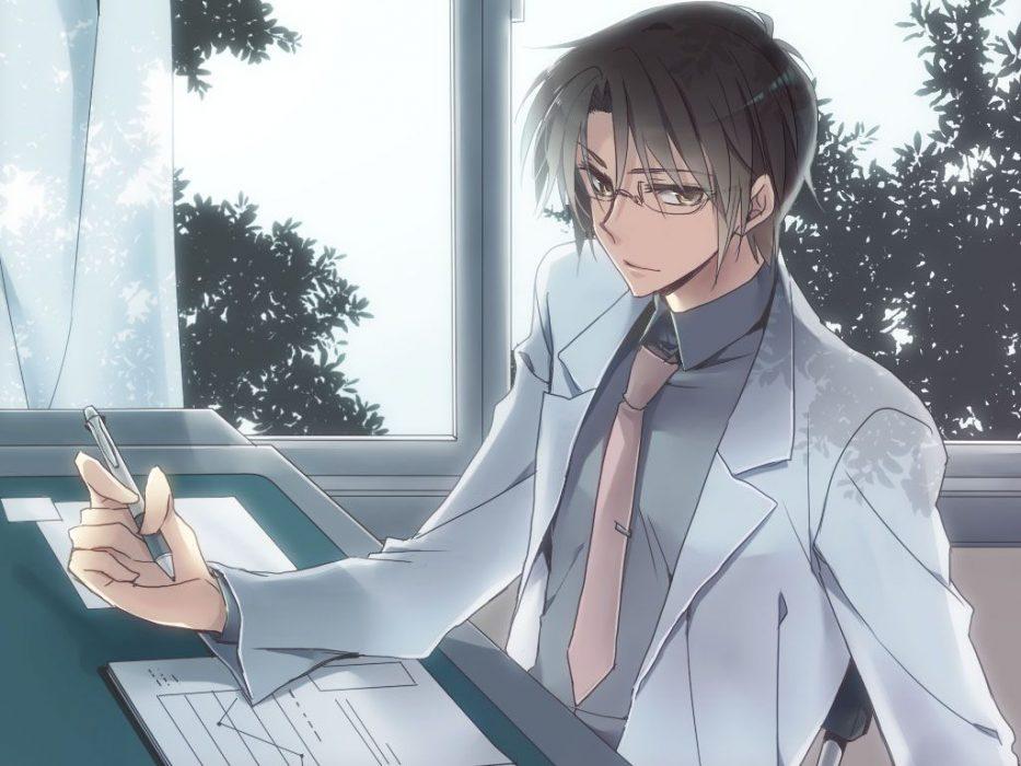 ainme businessman suit glasses wallpaper