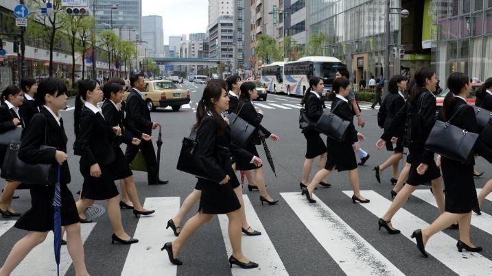 japanese women work