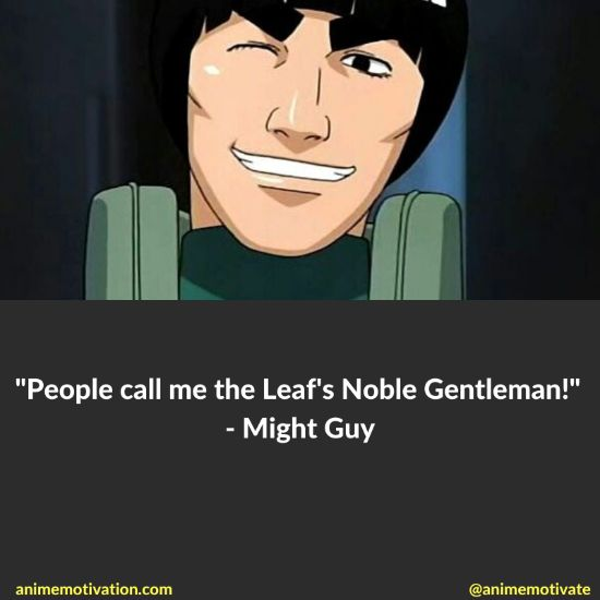 might guy quotes naruto 1