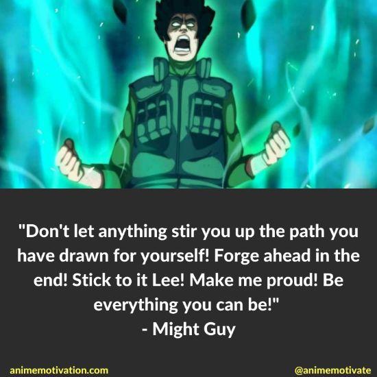 might guy quotes naruto 13