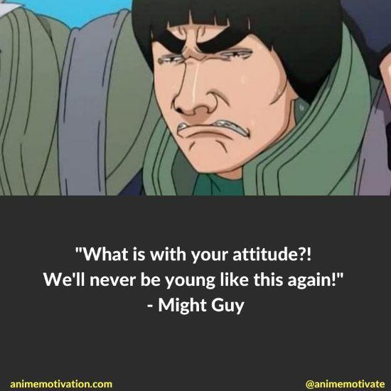 might guy quotes naruto 14