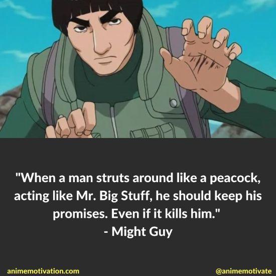 might guy quotes naruto 7