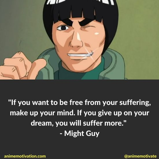 might guy quotes naruto 8