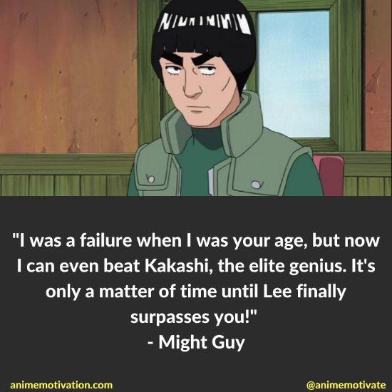 might guy quotes naruto 9