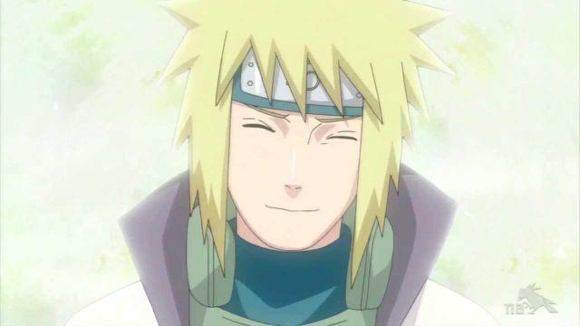 minato smile proud of naruto
