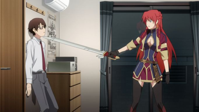 re creators anime red hair episode 1