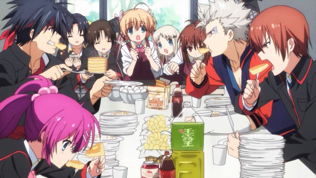 Little Busters anime food eating scene