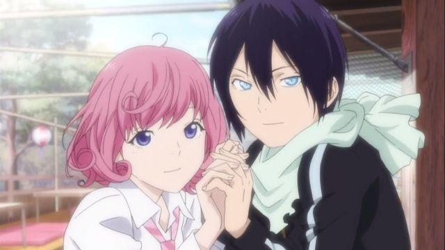 Noragami yato pink hair girl kawaii