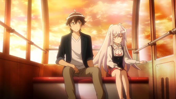 Plastic Memories sitting down moments couple