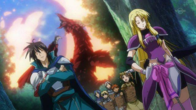 The Legend Of The Legendary Heroes protagonists scene