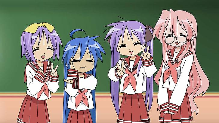 lucky star anime characters chibi 1