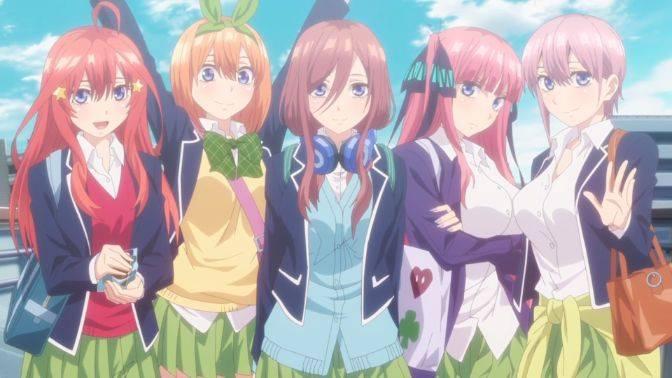 nakano sisters quintessential quintuplets