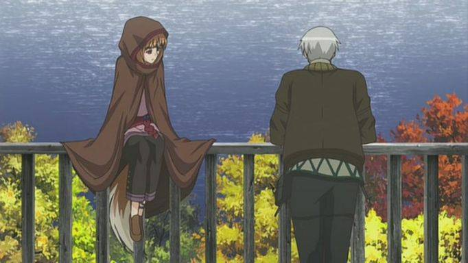 spice and wolf season 1 holo lawrence chilling