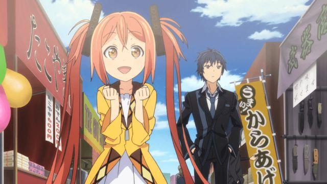 Black Bullet enju and rentaro street anime