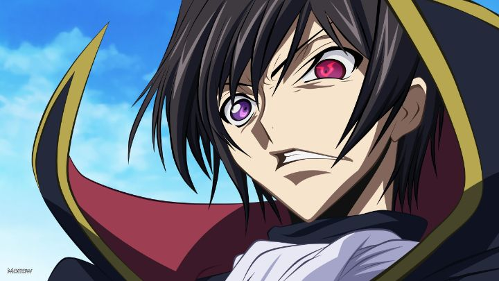 Code Geass eyes lelouch anime