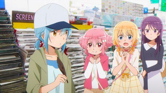 Comic Girls manga shop anime moments
